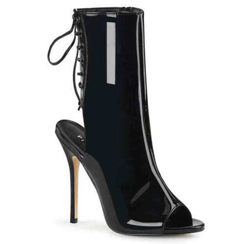 b132af9ceae976 AMUSE-1018 5 Heel Open Toe Heel Ankle Boot