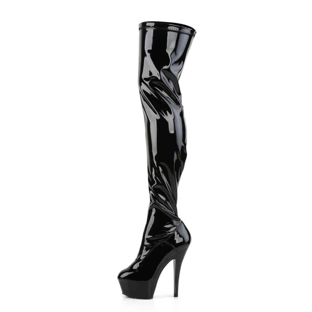 Pleaser Womens Delight-3000 Boot DELIGHT-3000//B//M