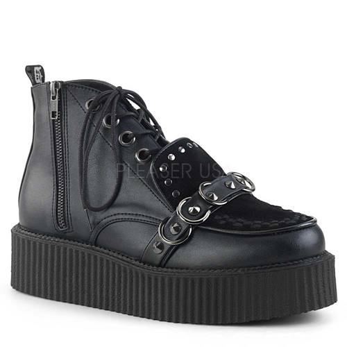 404cd1c39bb V-Creeper-555 plateau Oxford unisex high-top creeper zwart