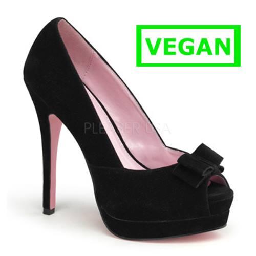 d3796800b1b4b6 Bella-10 brodé en daim noir, vintage, chaussure rockabilly talon à pompe