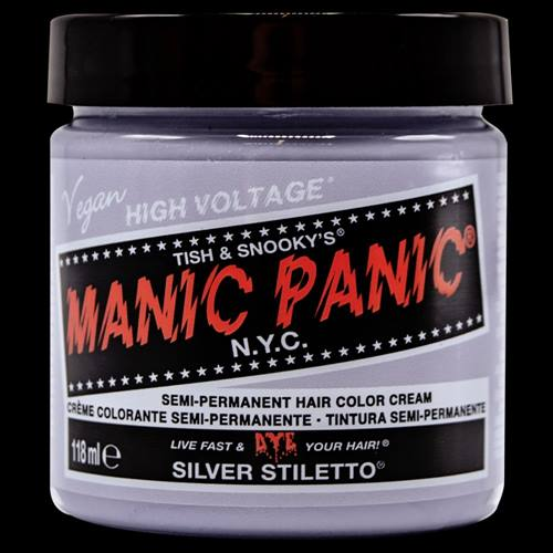 a201810c0a Manic Panic Semi permanent hair dye Silver Stiletto Silver coloured