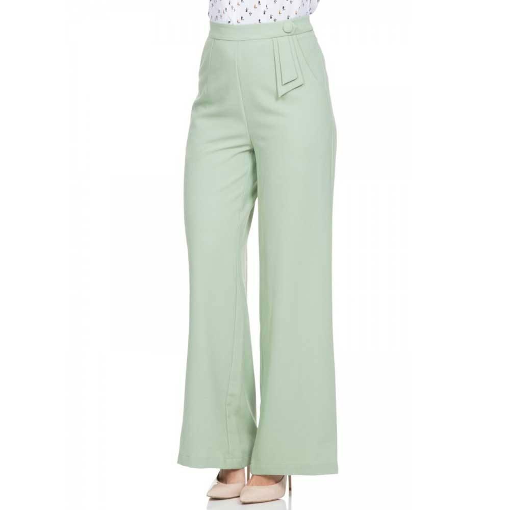 Wonderbaarlijk Voodoo Vixen Sadie broek met wijde pijpen en hoge taille pastel KK-14