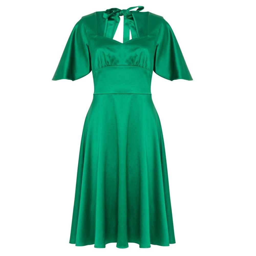voodoo vixen voodoo vixen kurzes kleid mariah satijnen grün