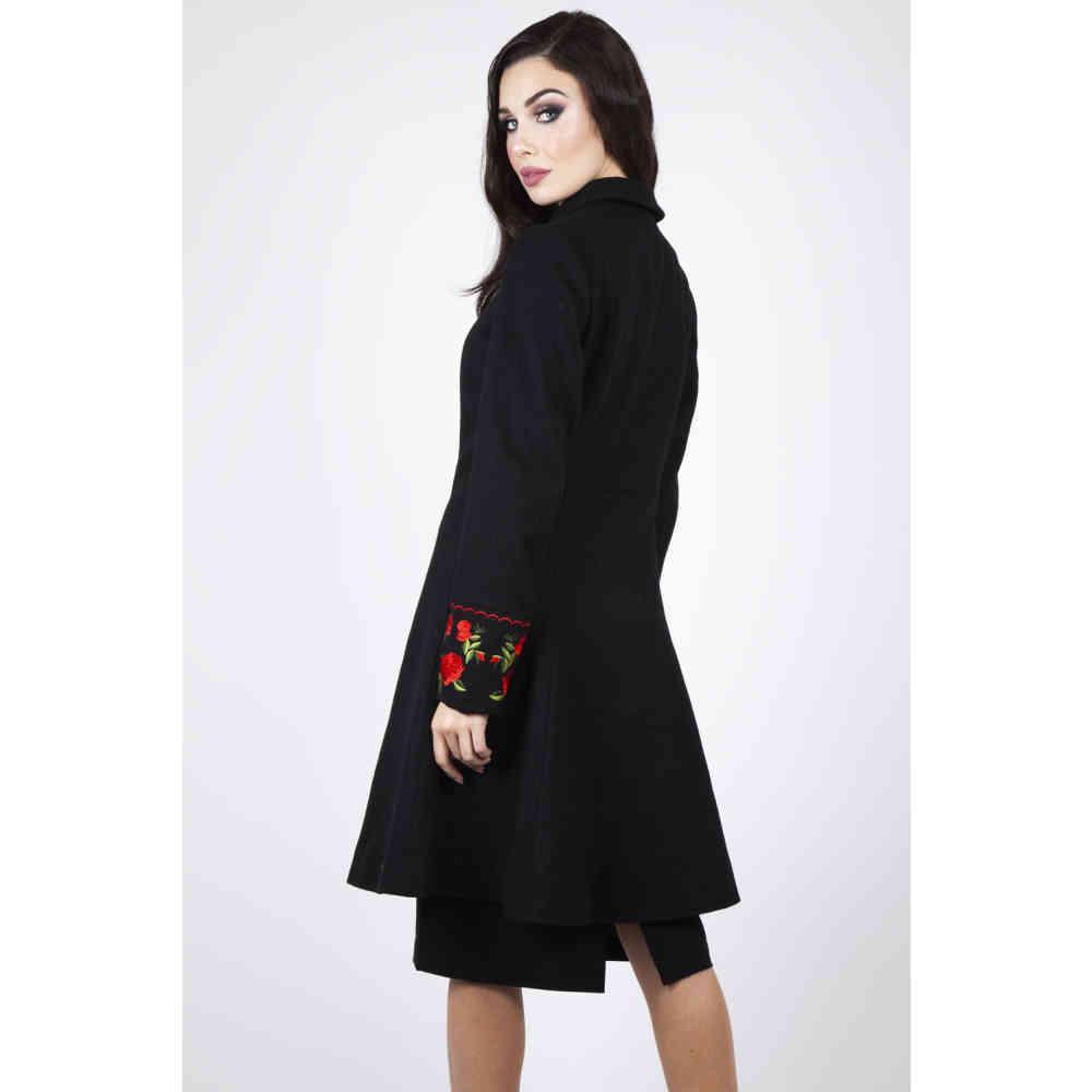 Voodoo Vixen Womens Joan Red Floral Coat   Coat