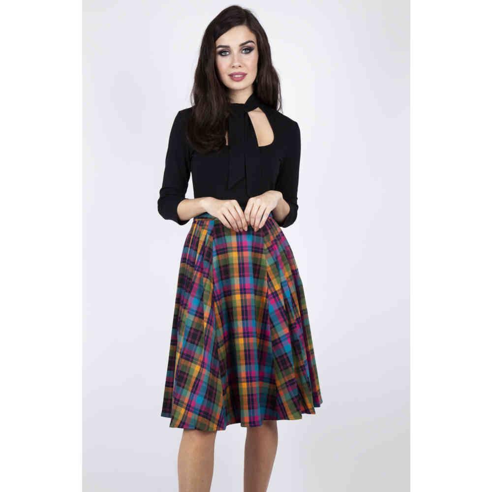 Voodoo Vixen Womens Marienne Parisian Print Skirt