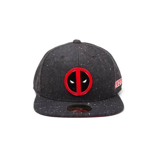 a93e9e5f06e6b8 Deadpool - Logo snapback pet met metalen badge zwart - Superhelden comics  merchandise