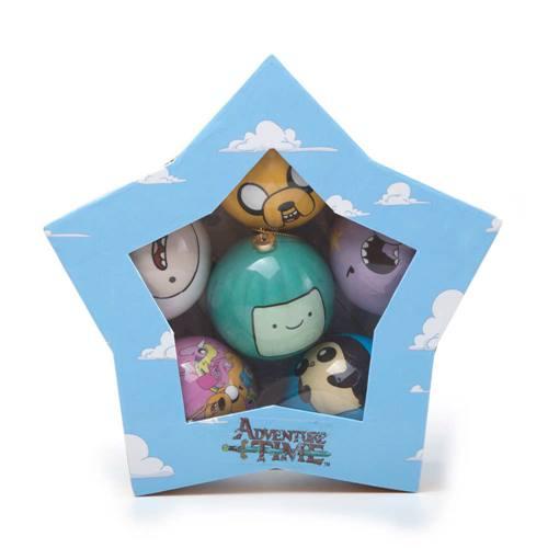 bbe53742663768 Adventure Time - Kerstmis set van 6 kerstballen met print multicolours -  Televisie cartoon merchandise