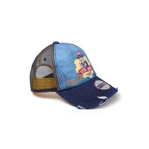 b1d1eb18fee09 Fallout - Vault 76 Vintage snapback trucker pet blauw