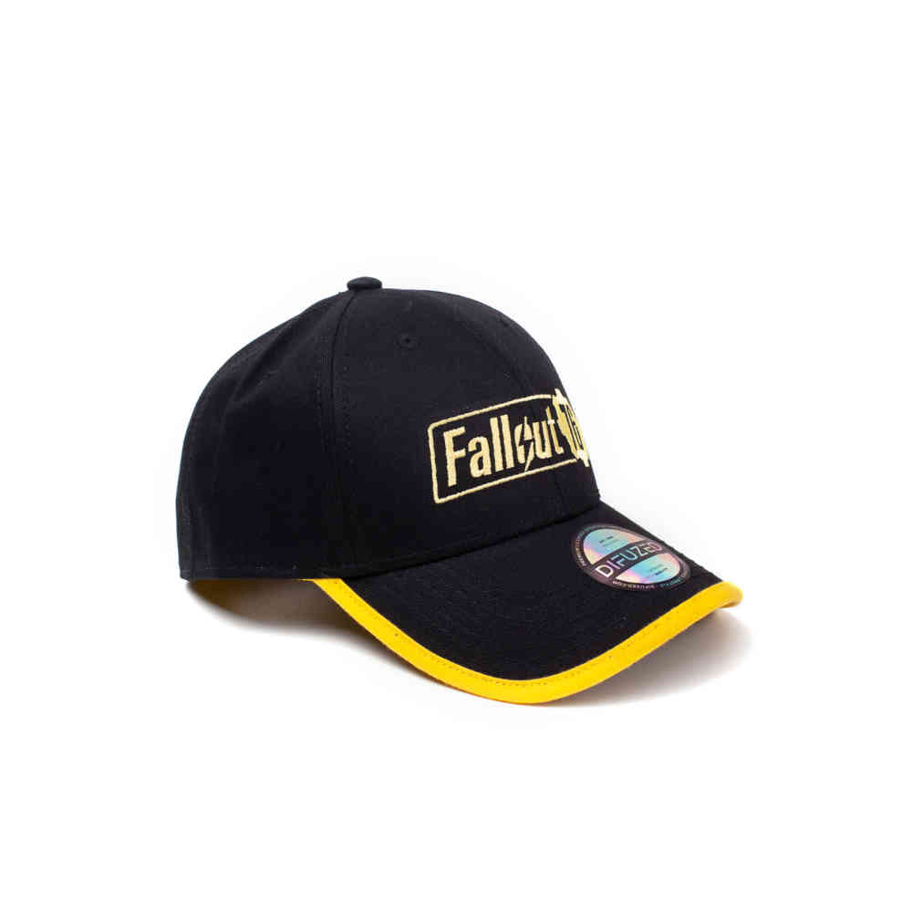Fallout cap 76 Yellow Logo Adjustable cap Black