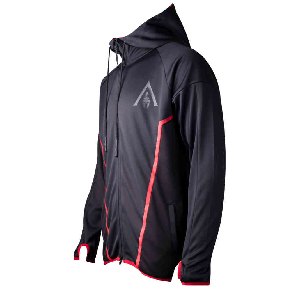 Assassins Creed Odyssey Technical Hexagonal men's hoodie jacket with hood black | Attitude Europe