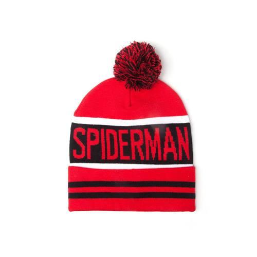 482622eadc1ea Spider-Man - Big Spidey Logo beanie muts met pom pom rood - One size