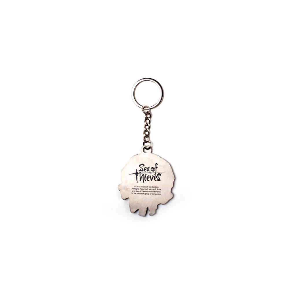 Sea Of Thieves Keychain Skull Metal Silver