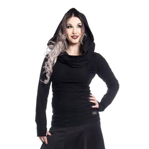 68917cb2d5 Pull femme Pureté avec capuchon / capuche noir - Gothique / métal