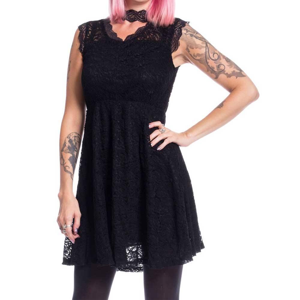 Innocent Lifestyle Calla kurzes Kleid aus Spitze schwarz