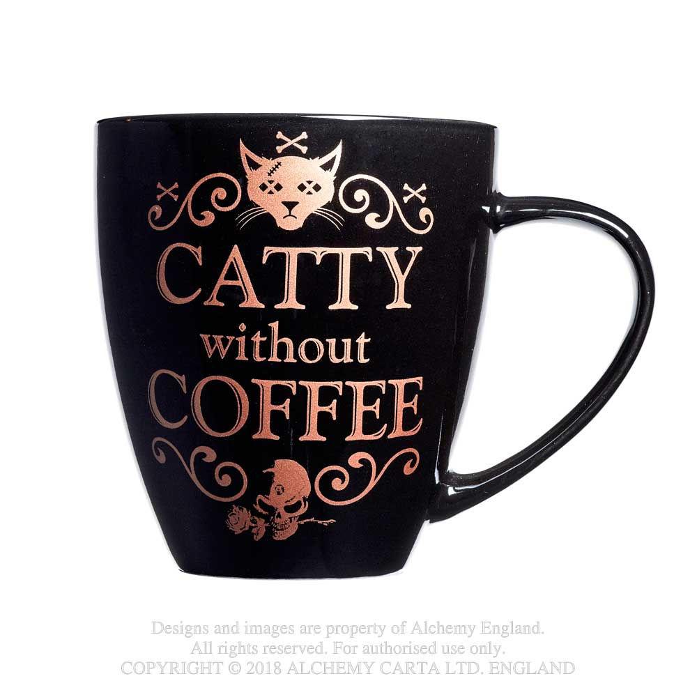 ALCHEMY ENGLAND Gothic Mug Drink Cup CERAMIC COASTER Black Coffee Black Clothes