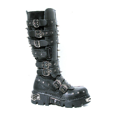 New Rock High Boot M. 796 S1 high boot black with studs and