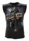rockabilly punk goth metal biker Plain Black Baby Body//Gilet