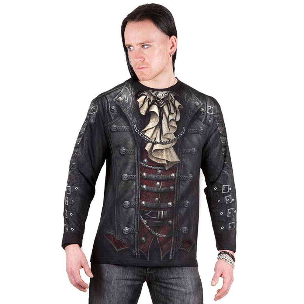 SPIRAL DIRECT Steam Punk Style Waistcoat Printed T-Shirt//Biker//Skull//Goth//Dark