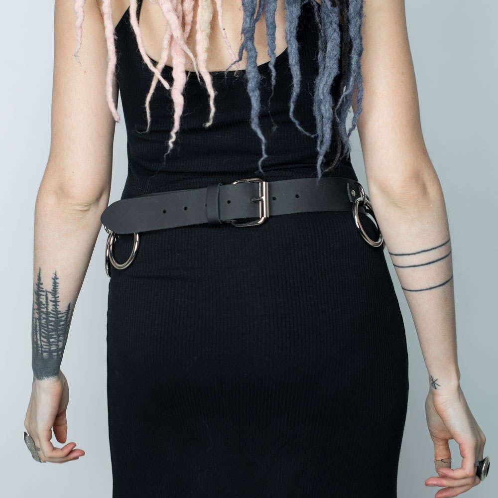 POIZEN INDUSTRIES Stars Belt schwarz Gürtel Gothic Punk Streetwear NEU