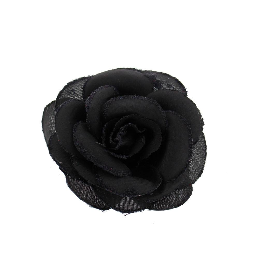Zac's Alter Ego * Rose on hair clip black - Zac's Alter Ego
