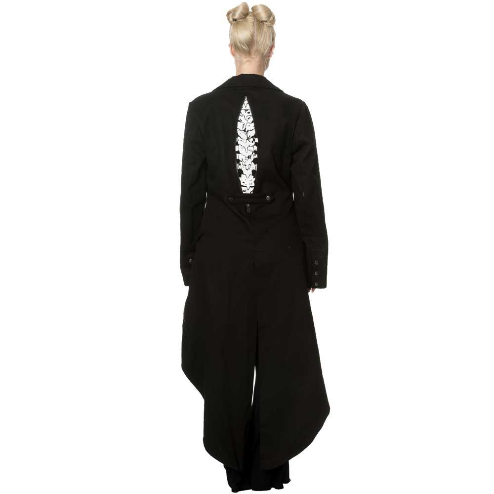 Women/'s Gothic Punk Emo Rockabilly Skeleton Bones Jacket Coat By Banned Apparel