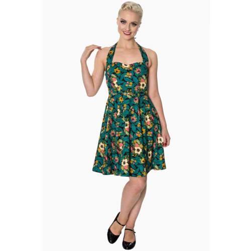 c53b24bf589c67 Tropical Holiday halternek jurk groen zwart