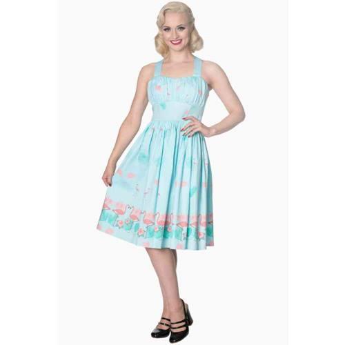 d491c22c0a0e18 Going My Way halternek jurk pastel blauw