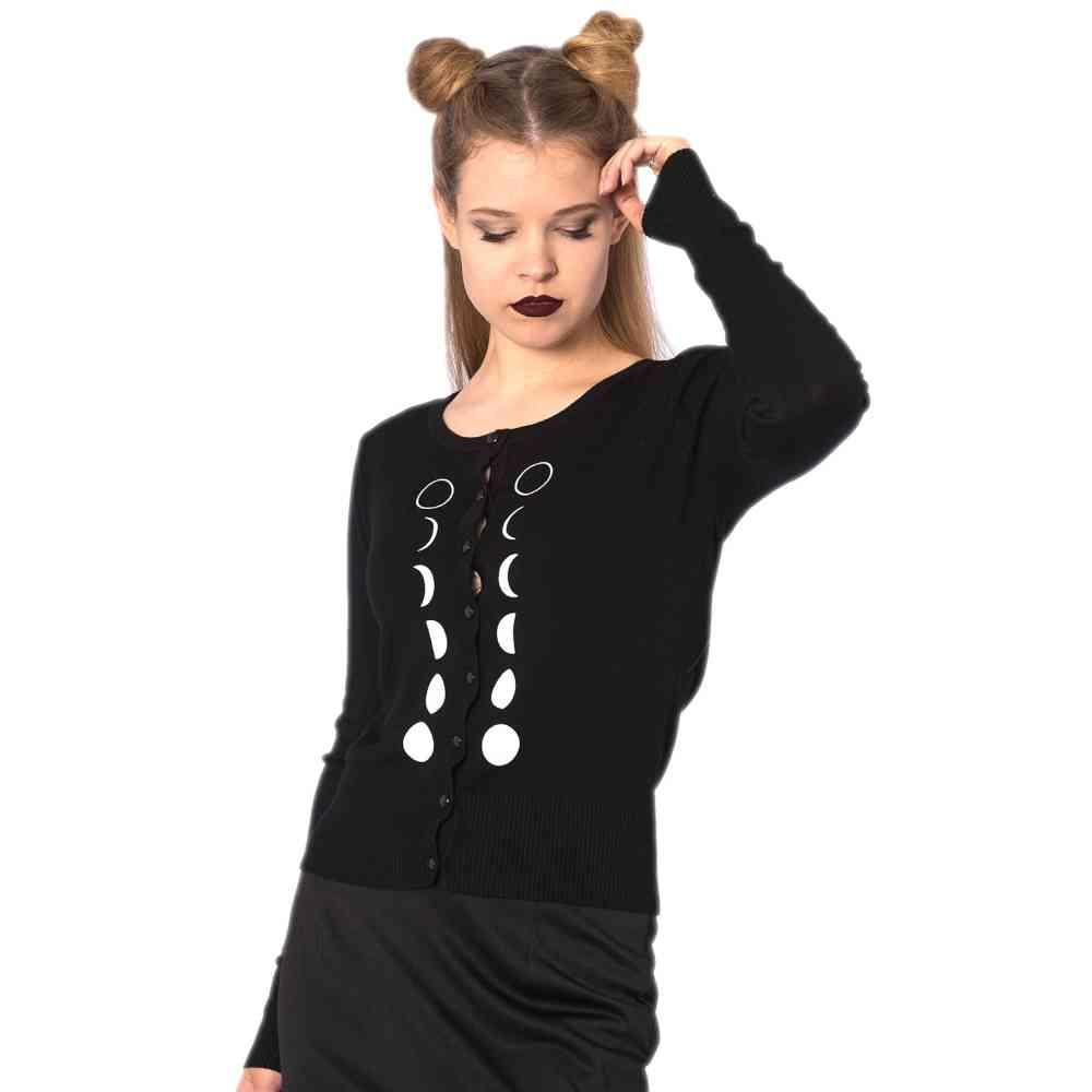 Long Sleeve Cardigan Small Banned BLACK FLAMINGO 4XL
