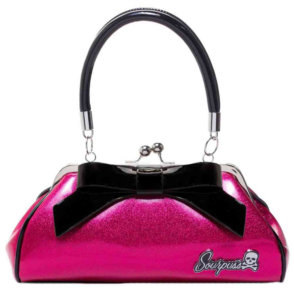 Sourpuss Floozy Purse Glitter Pink