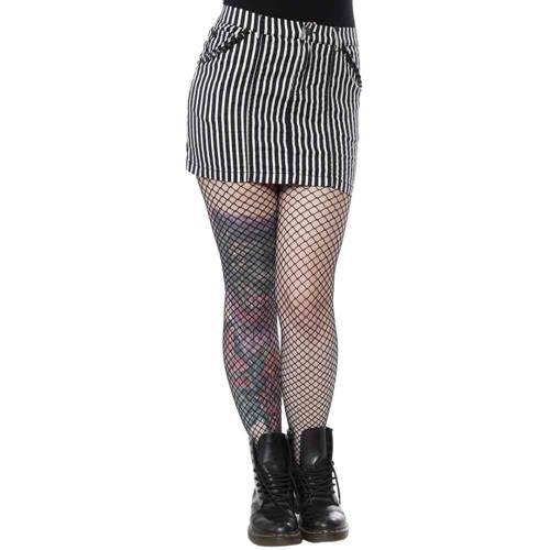 9042b3c96a0cd4 Mini-jupe rayée à rayures Sourpuss