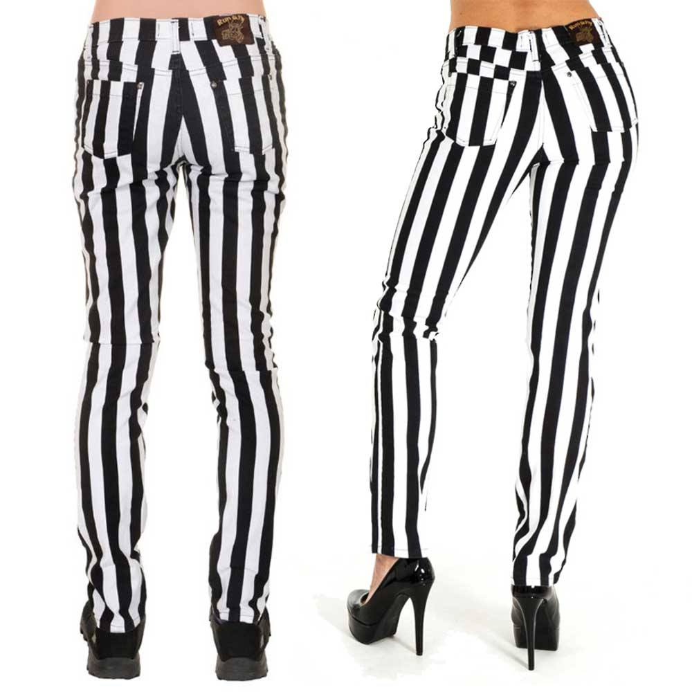 Welp Jist Jist Skinny jeans Striped Black/White   Attitude Europe NV-26