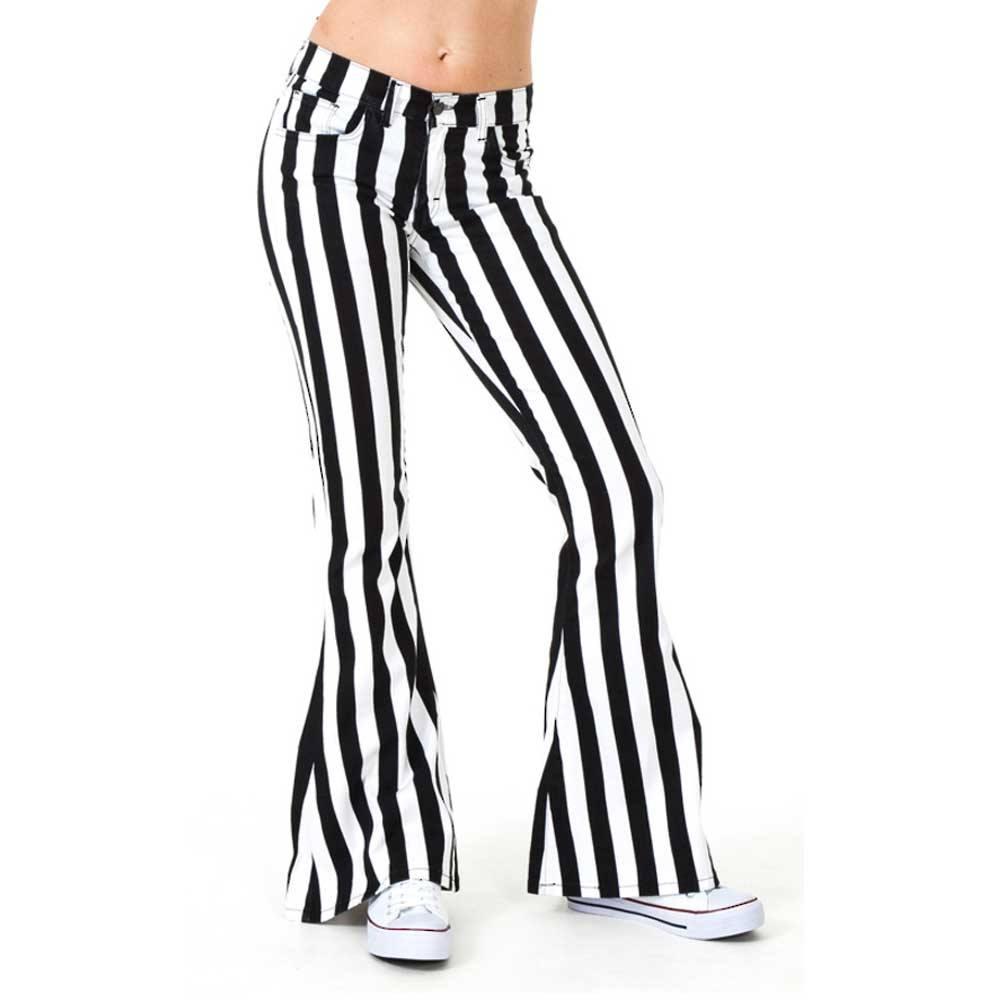 Goede Jist Jist Flared jeans Stripe Black/White   Attitude Europe GD-71