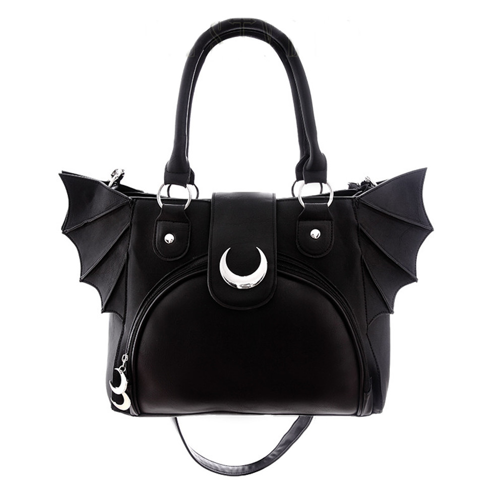Restyle Moon Bat Wings Gothic Belt Black Vegan Leather Alternative Accessories