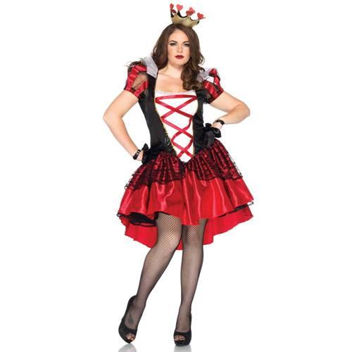44083b1e3a61e0 Reine Royale Rouge Plus Size Costume - Noir