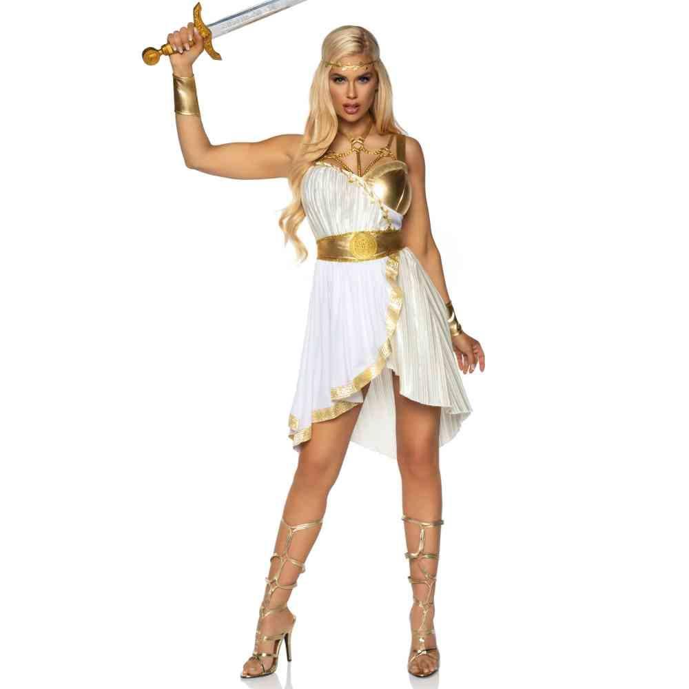 Golden Goddess of Temptation Adult Womens Costume White//Gold 85578 Leg Avenue