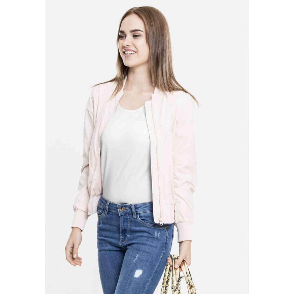 42952c1ec Urban Classics Ladies Light Bomber Jacket light pink   Attitude Europe