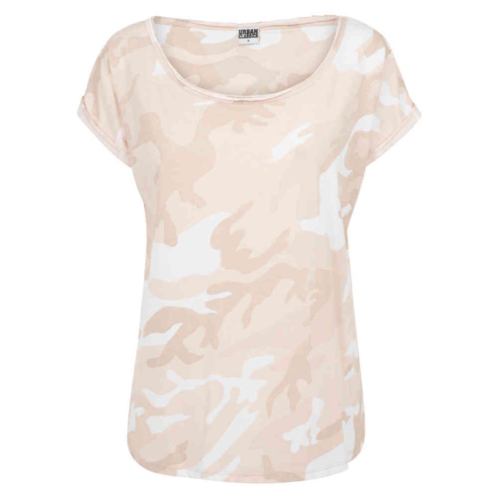 Urban Classics Ladies Camo Back Shaped Tee T-Shirt Femme