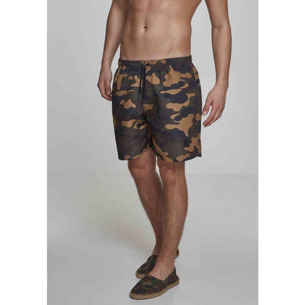Urban Classics Camo Swim Shorts Swim Trunks Swim Shorts Beach Camo Camouflage