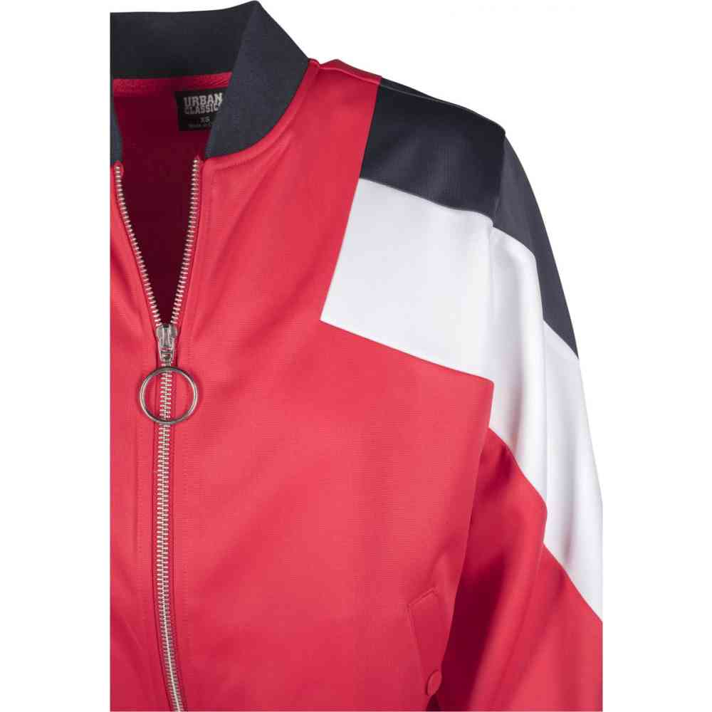 Urban Classics Ladies 3 Tone Track Jacket firered navy