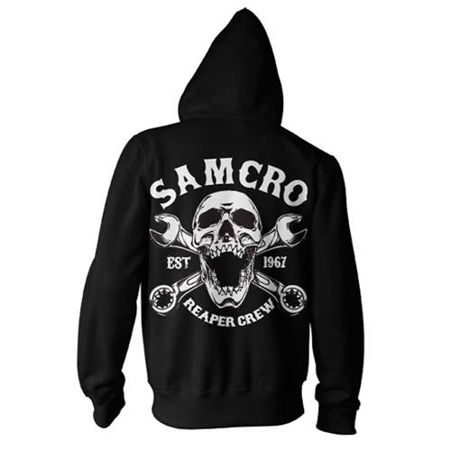 e3dc50bd Sons Of Anarchy - Reaper Crew SAMCRO 1967 men's unisex hoodie sweater with  black zip -