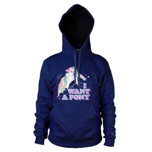 a1edbd427f0ea My Little Pony - I Want A Pony unisex hoodie marine blauw - Merchandise  televisie kinderserie