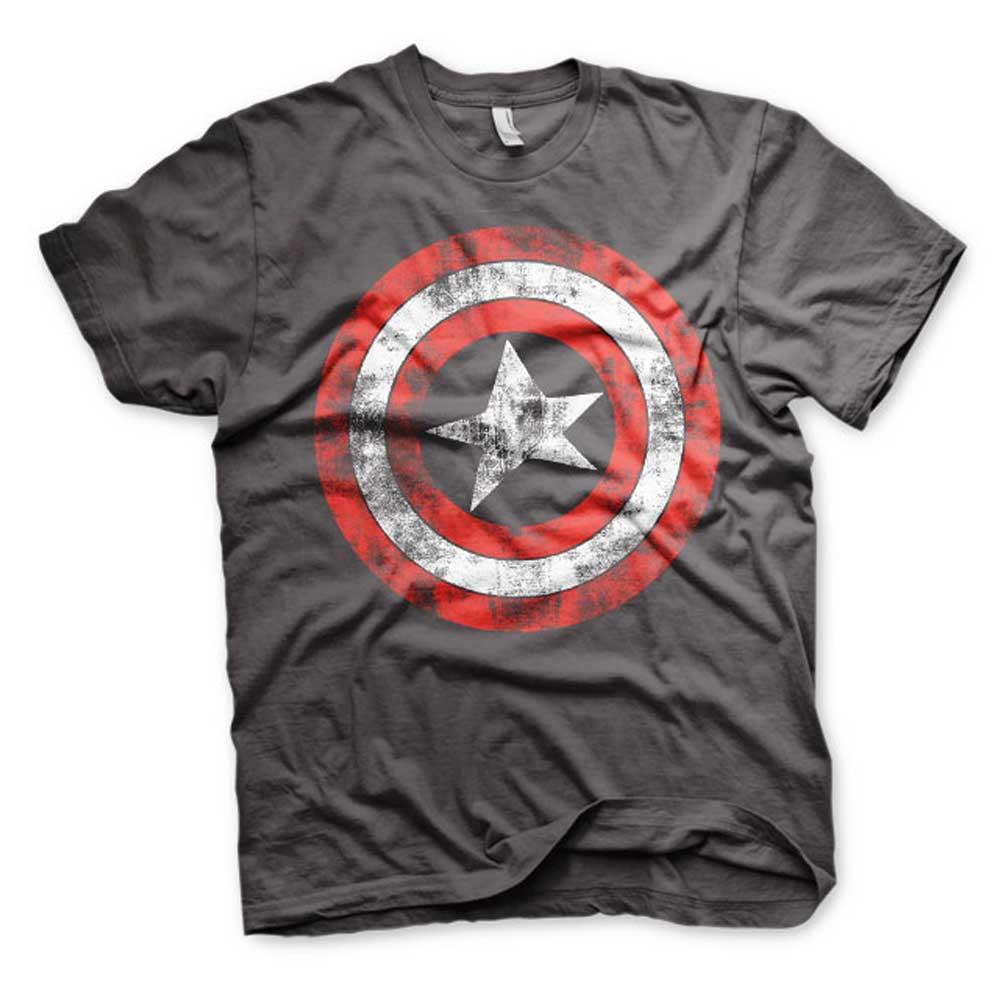 Captain America Shield Superhero Comic Mens T-shirt