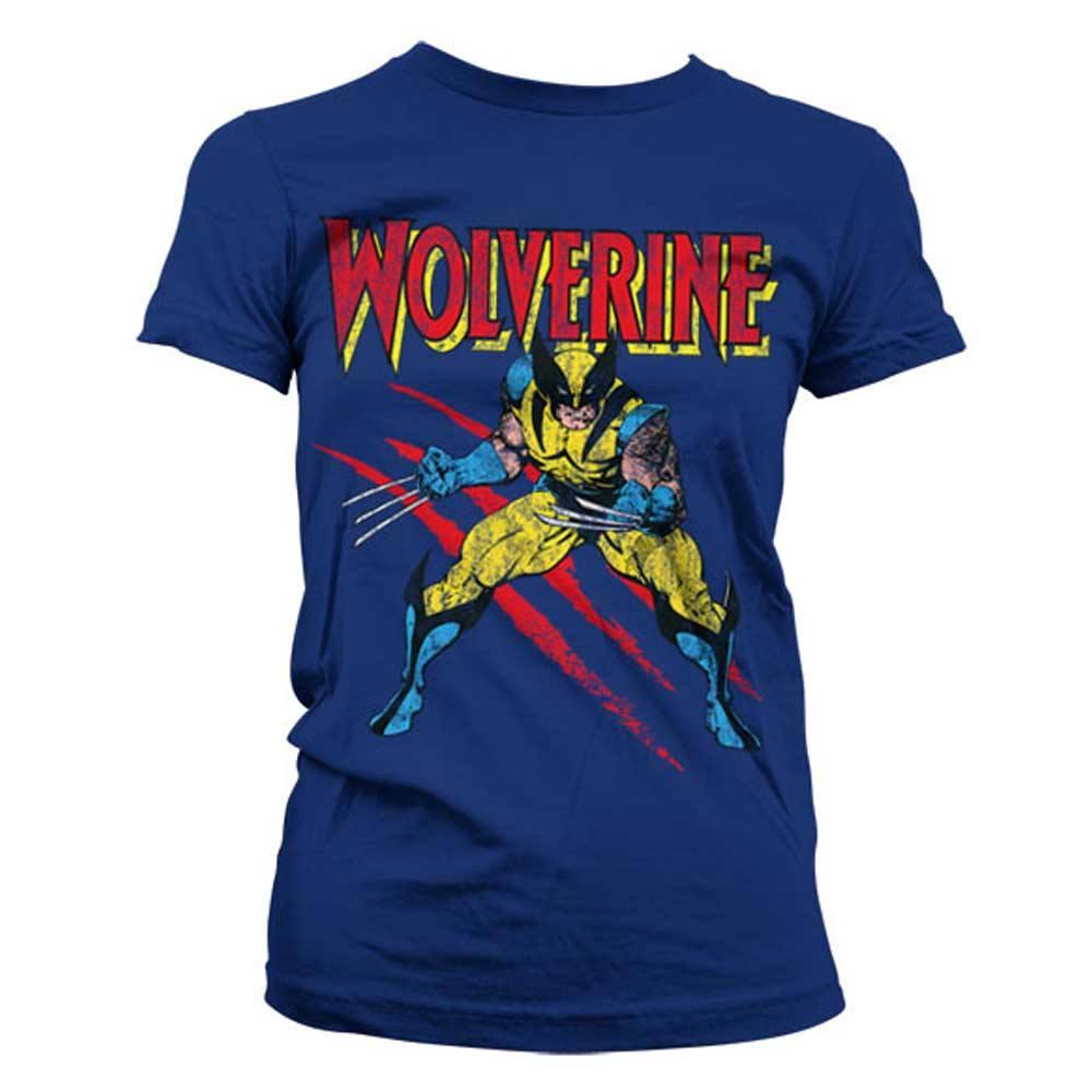 Donna Marvel X-Men Wolverine Kanji Portrait Maglietta con Collo a V