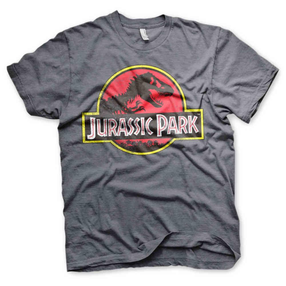 Jurassic Park Distressed Logo Unisex T-Shirt Black,