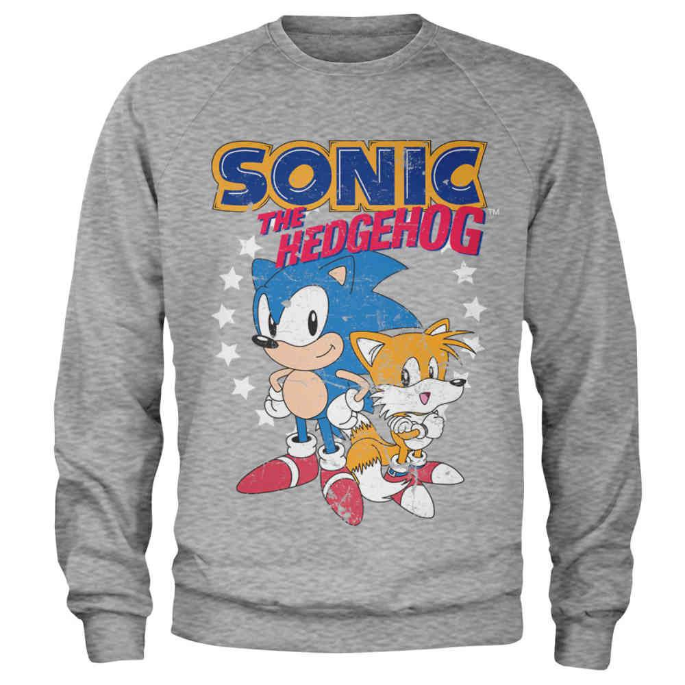 Sonic The Hedgehog Sweater Sonic Tails Grey Attitude Europe