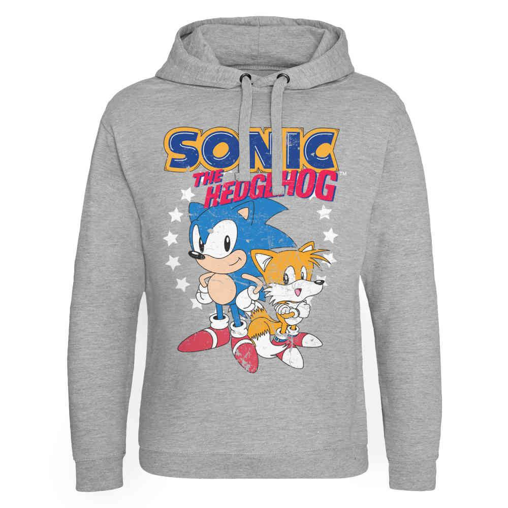 Sonic The Hedgehog Hoodie Sonic Tails Grey Attitude Europe