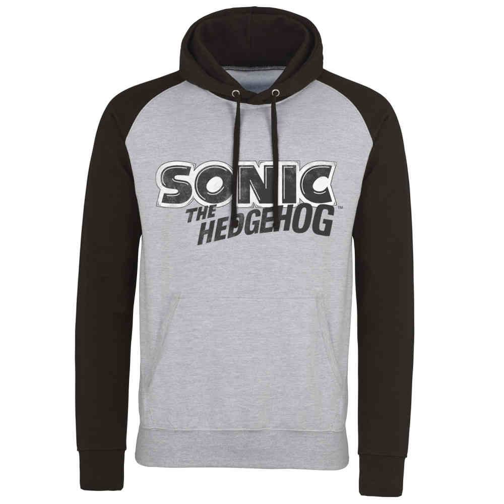 Sonic The Hedgehog Hoodie Classic Logo Grey Black Attitude Europe