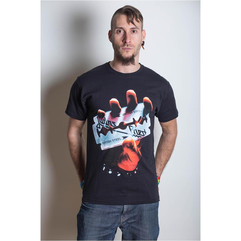 Judas Priest British Steel Hand Triangle T-Shirt
