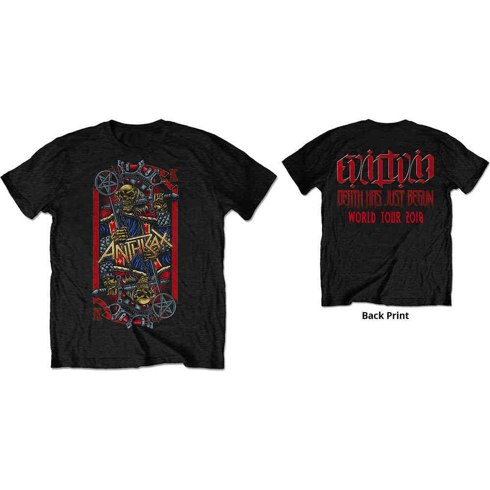 Anthrax Among The Kings Tour Shirt S M L XL XXL Metal Band T-Shirt Official