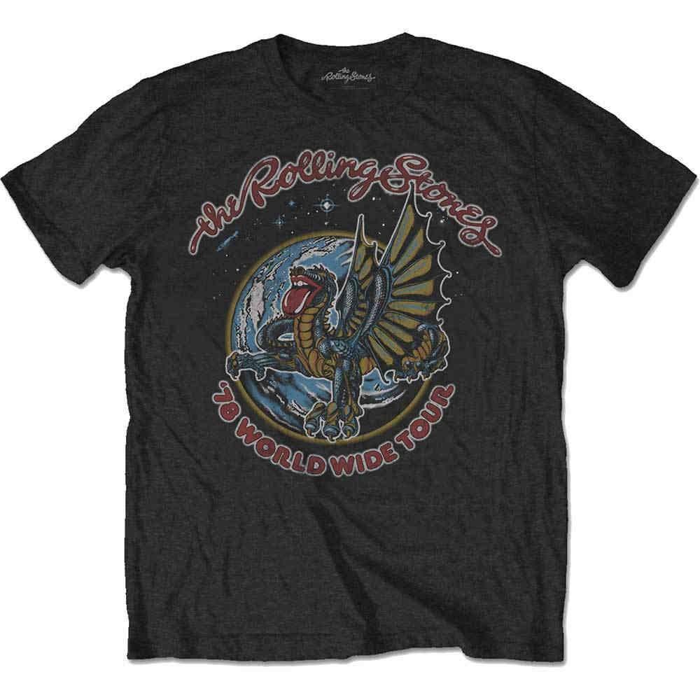 The Rolling Stones Dragon 78 Kurzarm Herren T-Shirt Schwarz